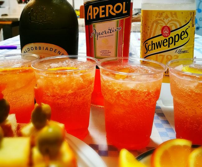 Aperitivo  Aperitive Aperitif Time Drinking Glass Freshness HuaweiP9 Huaweiphotography Huawei Shots Apero Time Aperol Spritz Drink No People Blood Orange Orange Color AperolSpritzForLunch