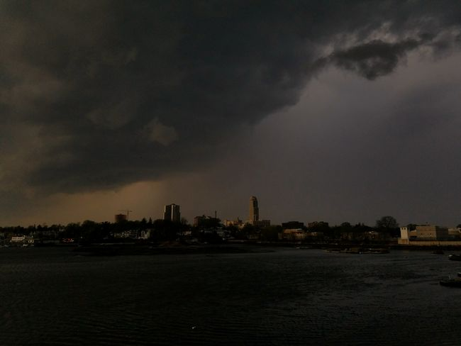 Crazy thunderstorm moving into New Rochelle with the wall of rain trailing the shelf cloud! (5/3/2018) Thunderstorm City Cityscape Urban Skyline Architecture Building Exterior Built Structure Tall - High Storm Cloud Storm Torrential Rain