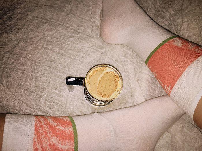 Always Be Cozy Sock Socks Socksoftheday Tea Latte Chai Chai Latte