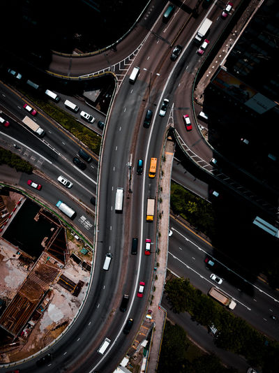 Transportation Road City Mode Of Transportation Highway High Angle View Built Structure Street Land Vehicle Motor Vehicle Car Elevated Road Multiple Lane Highway No People Traffic City Life Overpass Cityscape Topdown Drone  Dronephotography Aerial View Aerial Photography Cars Urban