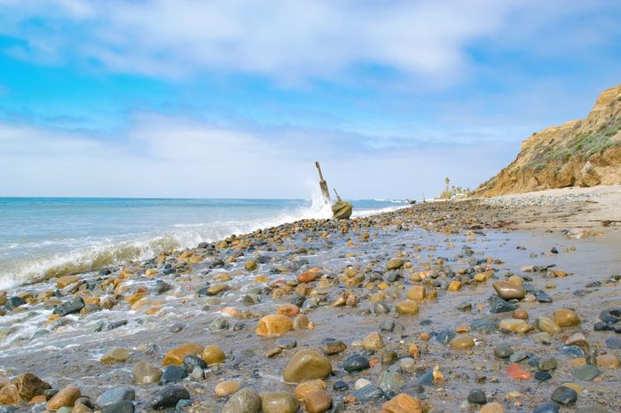 Beachtime♥♥ Landscapes With WhiteWall Beach Pebbles Surfs Up Oceanscape Blue Sea Beachphotography Sea And Sky Seaside_collection Seascape Seashore Seascape Photography Waves, Ocean, Nature Waves Crashing Waves And Rocks Southern California Holiday And Relaxing