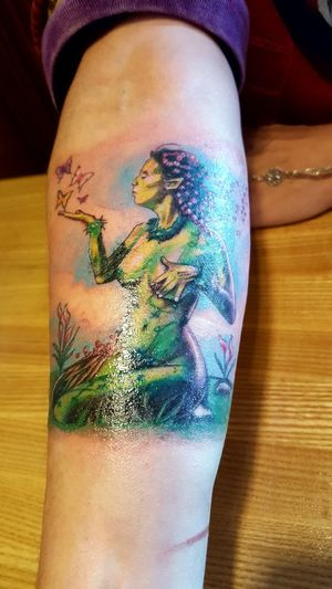 New Tattoo Gaia Colorful Inked Mother Earth Art Creativity Personality  Forearm No Face Real People Tatted Eyeemphoto Tattoo Life