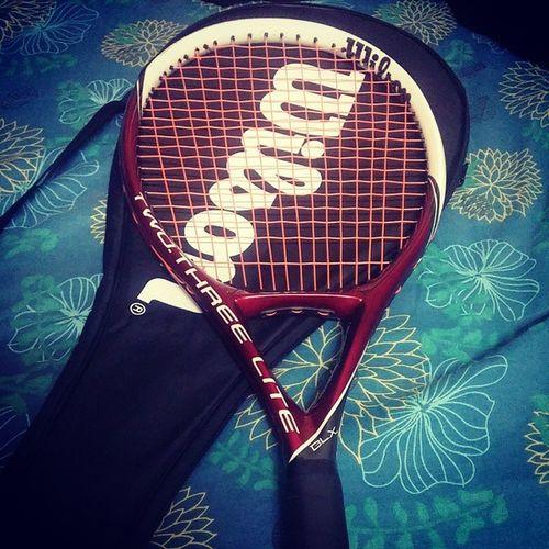 new racquet....tennis ❤ Wilson  Tennis Greatsport !!