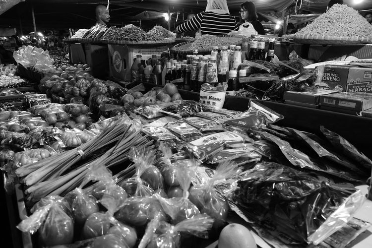 Aerial view of market stall for sale