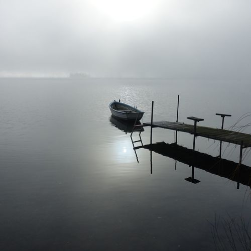 2019 Plöner See Water Sky Reflection Tranquility Sea Nature Beauty In Nature Fog No People Day Tranquil Scene Waterfront Horizon Over Water Horizon Non-urban Scene Outdoors
