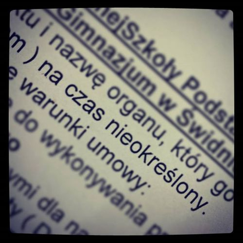 "Two ""magic"" words - permanent contract 🙌 Czasnieokreslony Gotthejob Finally"