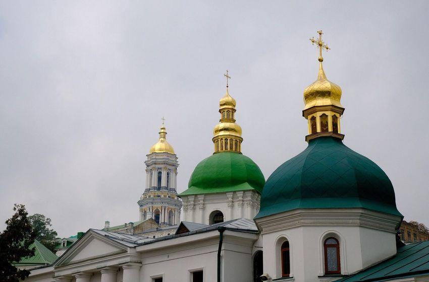 Kiev Ukraine Kiew Building Exterior Religion Belief Place Of Worship Built Structure Dome Architecture Spirituality Travel Destinations Low Angle View Cross Building