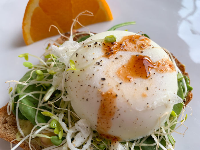 Poached egg on