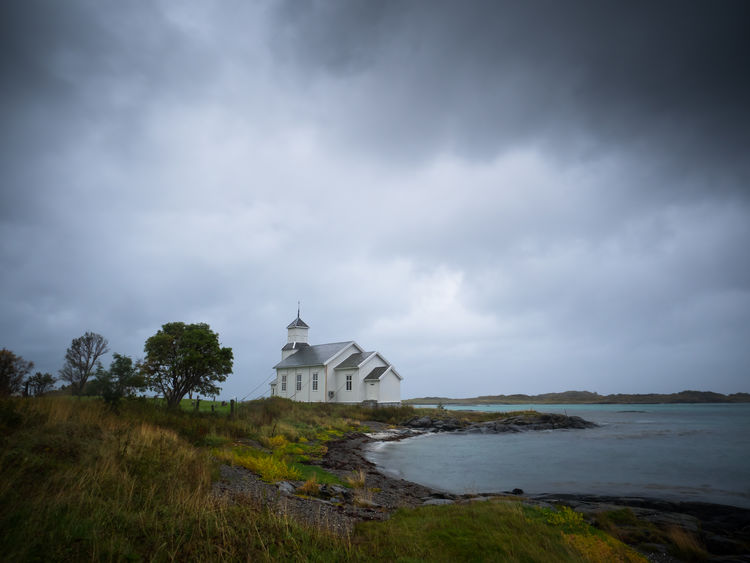 Architecture Beauty In Nature Building Exterior Built Structure Church Cloud - Sky Day Gimsoy Gimsøy Grass Kirke Landscape Landscape_Collection Lofoten Lofoten Islands Nature No People Norway Outdoors Place Of Worship Religion Scenics Sky Spirituality Water