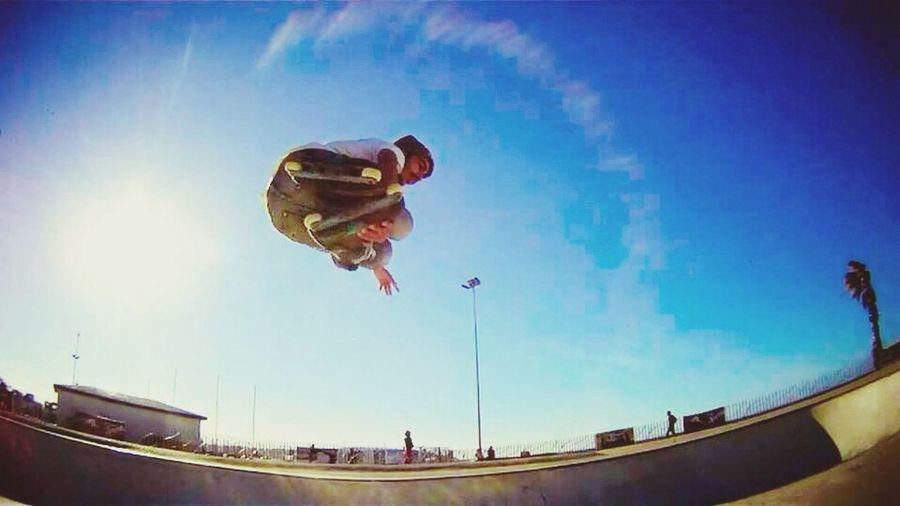 Hello World Happy People Skatepark Enjoying Life Rollerblading Fisheye Ollygrab