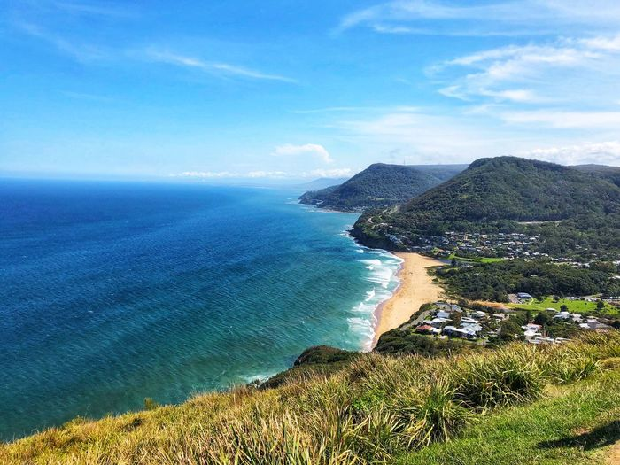 Australian coastline beauty Stanwell Tops Australia NSW Australia Canon 80D Canon Photography Canon Land Day Coastline Outdoors Cloud - Sky Tranquil Scene Tranquility Horizon Over Water Horizon Blue