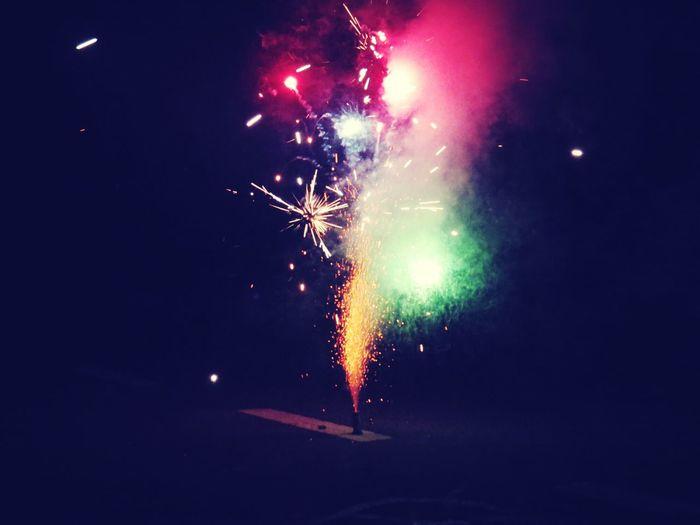 Silvester Feuerwerk Taking Photos
