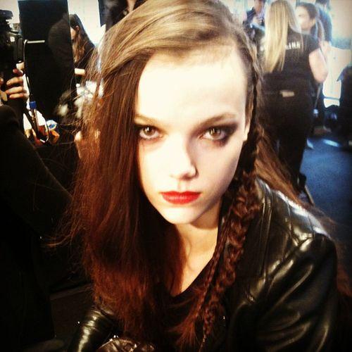 Model getting done for Chloe Comme Parris Fashion Style Torontofashionweek Wmcfashionweek instagood instamood