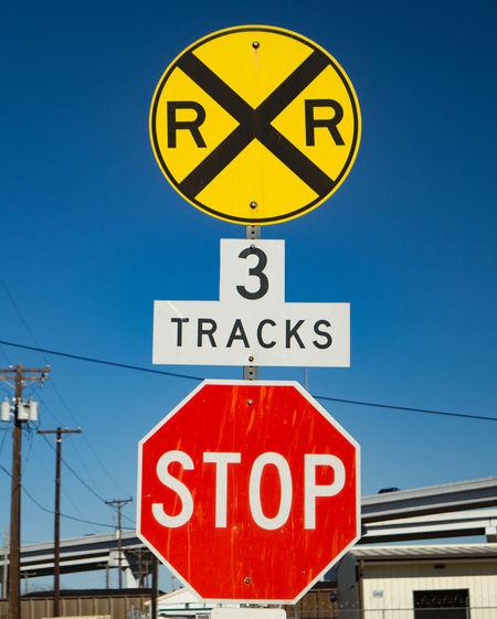 Communication Railroad Railroad Crossing Road Sign Road Signs Signs Stop Sign Train Crossing Warning Sign