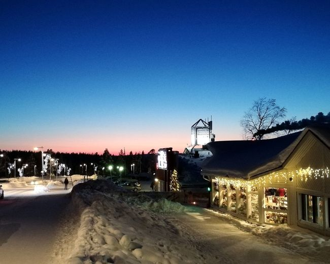 Lapland Lappland Saariselkä, Finland Finland Winter Snow Beautiful No People Clear Sky Outdoors