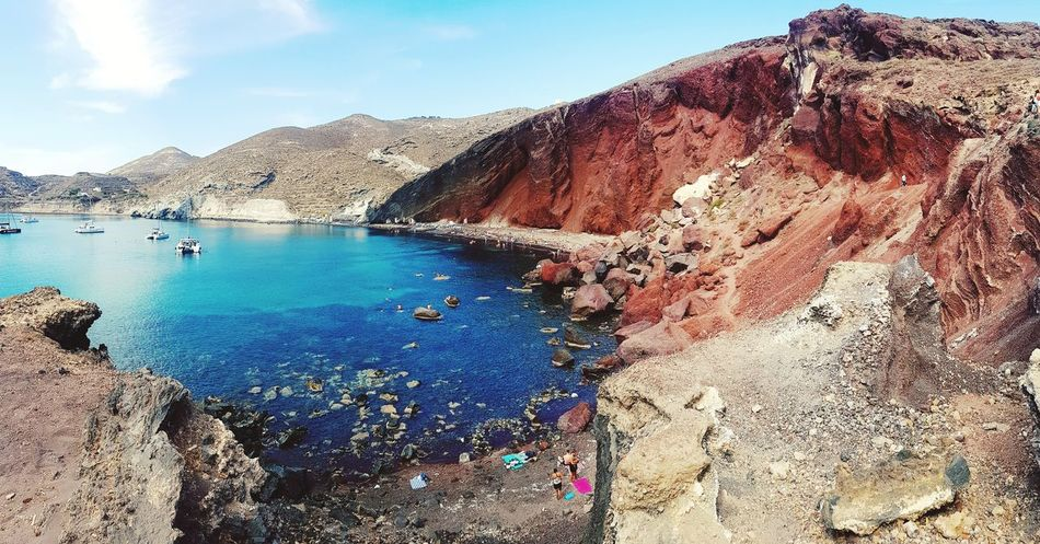 EyeEm Selects Redbeachsantorini Santorini, Greece Greece Beach Redbeach Red Rock Formation Holiday