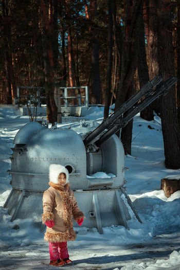 girl on the background of anti-aircraft gun Snow Russia Russian Girl Russian Nature Gun Girl With Gun Girl Antiaircraft Gun Clothing Cold Temperature Land Leisure Activity Looking At Camera Nature One Person Outdoors Real People Snow Standing Tree Warm Clothing Winter Young Adult Young Women