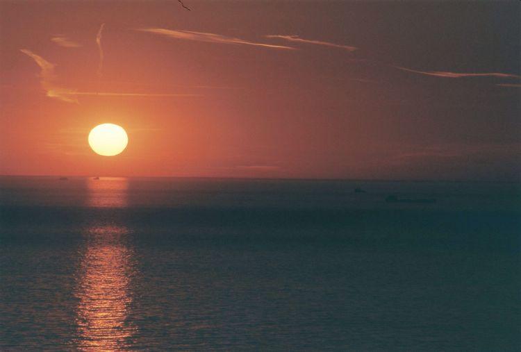 Sun smokes. Enjoying The Sun Smoke Sunset Sea And Sky