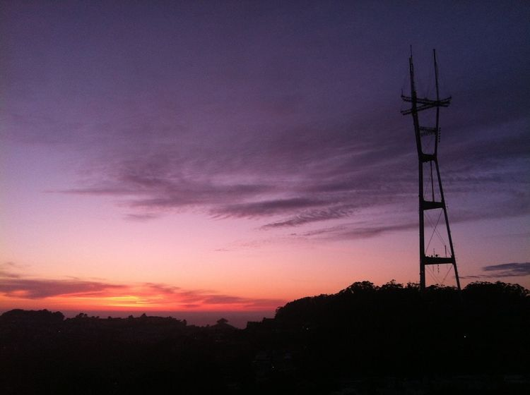 Sutro Sunset Sunset Silhouette San Francisco