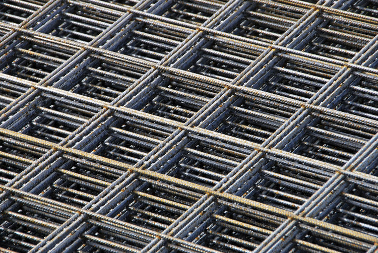 Mesh Alloy Backgrounds Close-up Construction Industry Construction Site Day Equipment Full Frame Grate Grid High Angle View In A Row Industry Large Group Of Objects Metal Metal Grate Metallic Metallica No People Outdoors Pattern Repetition Shape Steel