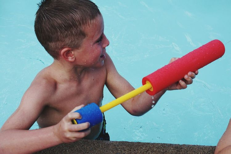 EyeEm Selects Water Child Childhood Males  Boys Summer Shirtless Swimming Pool Fun Wet
