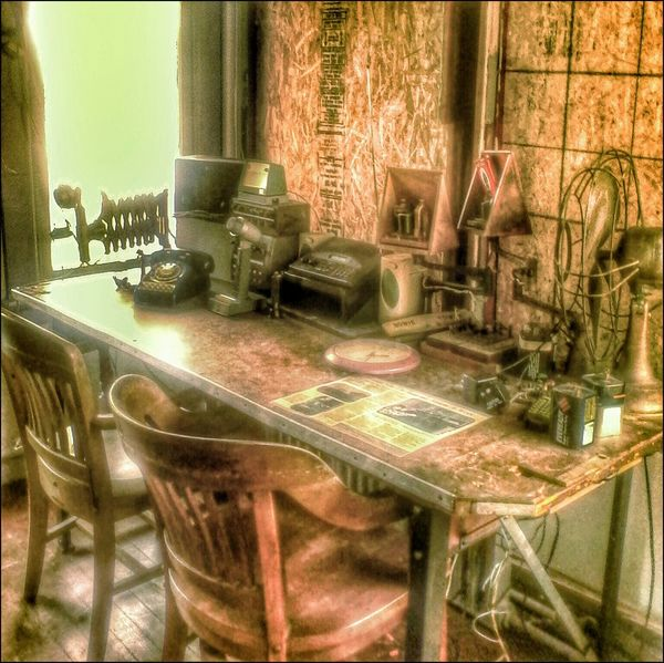 Title: History HDR Hdr_lovers Hdr_Collection Communication Old Telephone Old Room
