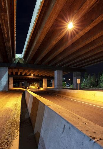 Architecture Yellow Illuminated Lighting Equipment Road Bridge