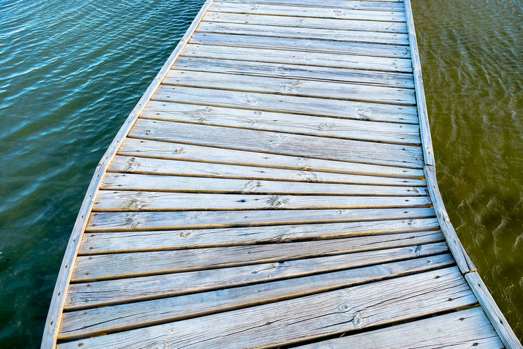 Wooden Pathway Lake Salina Island Remote Location Outdoors Travelling Vacations
