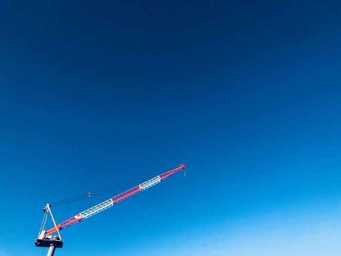 Japan Blue Copy Space Clear Sky Sky Low Angle View Day Transportation No People Industry Outdoors Construction Industry
