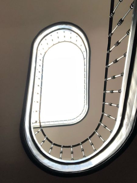 Architecture Spiral Staircase Railing Spiral Staircase Indoors  Built Structure Steps And Staircases No People Architectural Feature Window Sky