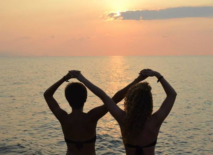 Infinity Sun Sea Sicilia Beach Summer Friend