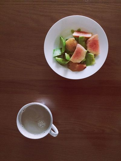 Food And Drink Table Drink Freshness Coffee Cup Coffee - Drink Refreshment Plate Food Indoors  Serving Size Healthy Eating Directly Above High Angle View No People Saucer Breakfast Frothy Drink Ready-to-eat Close-up
