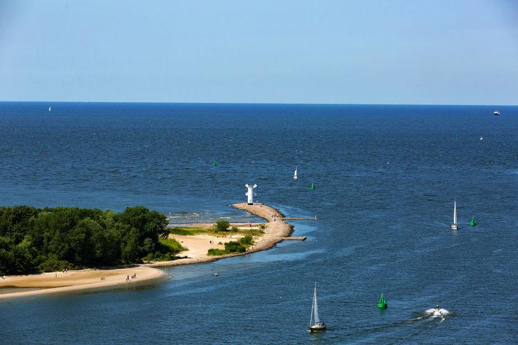 Baltic Sea Stawa Mlyny Blue Day Sailboats Sea Sky Water