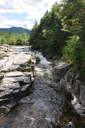 Beauty In Nature Mountain Nature New Hampshire, USA River Travel Trees And Nature Water Waterfront White Mountains