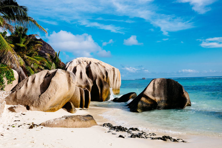 Seychelles Anse Source D'argent Beach Beauty In Nature Nature Ocean Outdoors Sea Sky Water