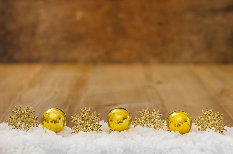 Art And Craft Close-up Craft Creativity Day Flooring Focus On Foreground Food Gold Colored Group Of Objects In A Row Indoors  No People Selective Focus Side By Side Snow Still Life Table Wood - Material Yellow