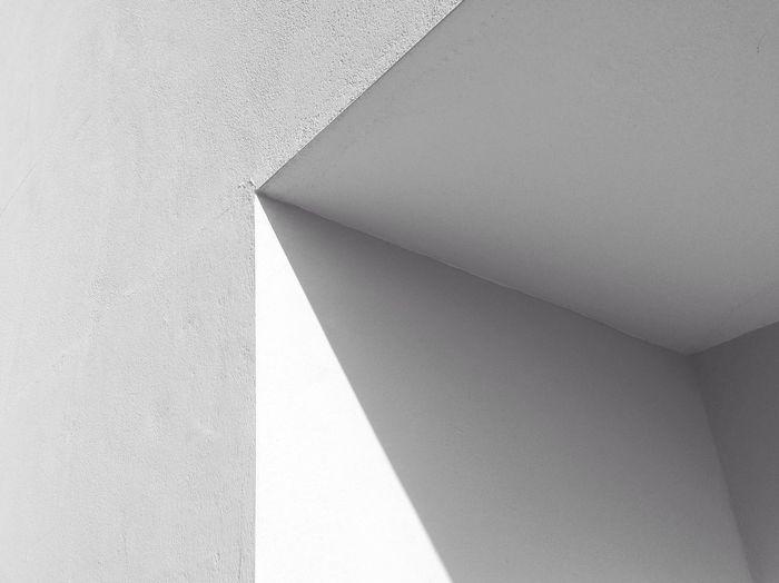 Low angle view of wall corner