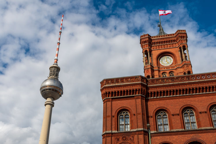 Berlin city hall and berlin television tower