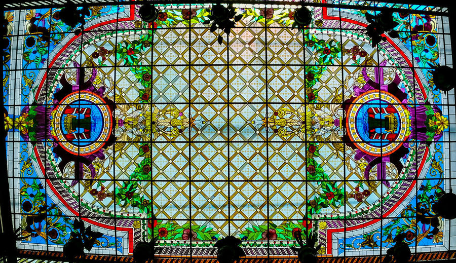 Ceiling #arquitectura #Fotografia #MexicanColors #Hermoso #LiveColors #ColoresVivos Multi Colored Pattern Full Frame Backgrounds Circle Close-up Green Color Stained Glass Decorative Art Architecture And Art Architectural Design Design Mosaic Concentric Geometric Shape Rose Window Architectural Detail