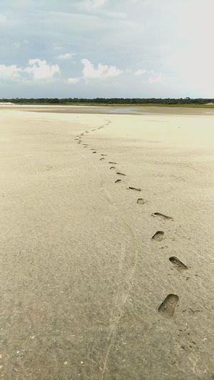 Beach Sand Outdoors No People Low Tide First Eyeem Photo Footprints In The Sand Kiawah Island Ocean First Eyeem Photo EyeEm Selects EyeEmNewHere