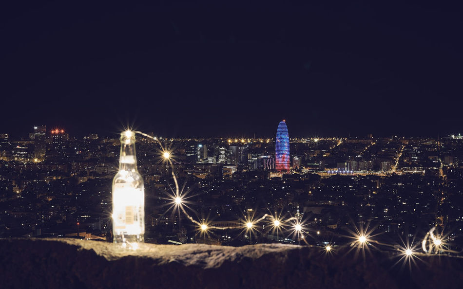 Agbar Tower Barcelona Barcelona, Spain City Skyline Torre Agbar Tower Agbar Architecture Building Exterior Bunkers Del Carmel Christmas Christmas Lights City Cityscape Cold Temperature Desperados Fairy Lights Illuminated Night No People Outdoors Sky Snow Tree Urban Skyline Winter The Week On EyeEm Lost In The Landscape