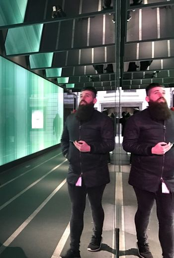 #reflection # men with beard #man in london 4245035