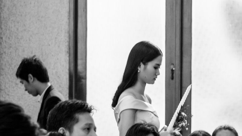 Wedding ceremony Bangkok Black And White Candle Day Headshot Inddors Portrait Woman Cute Romantic Wedding Wedding Ceremony