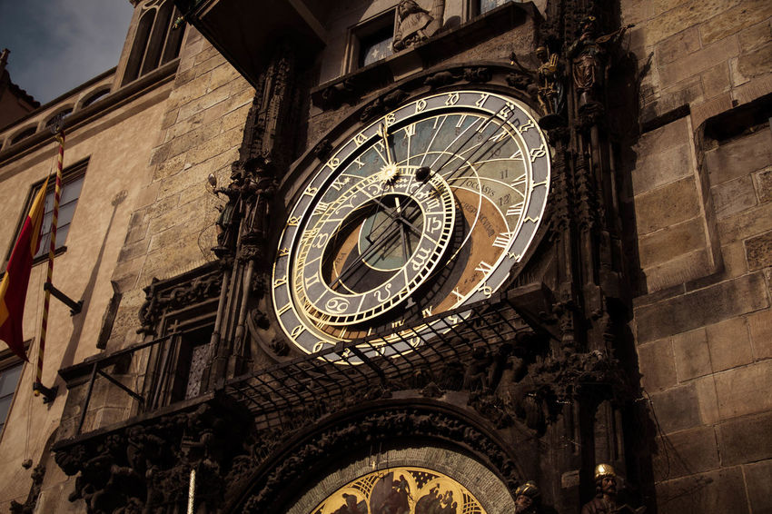 Time. Beautiful Love Moments Prague Timeless Architecture Astronomical Clock Astronomy Building Exterior Built Structure Clock Clock Face Clock Tower Close-up Day History Low Angle View No People Outdoors Time Time To Reflect Travel Destinations