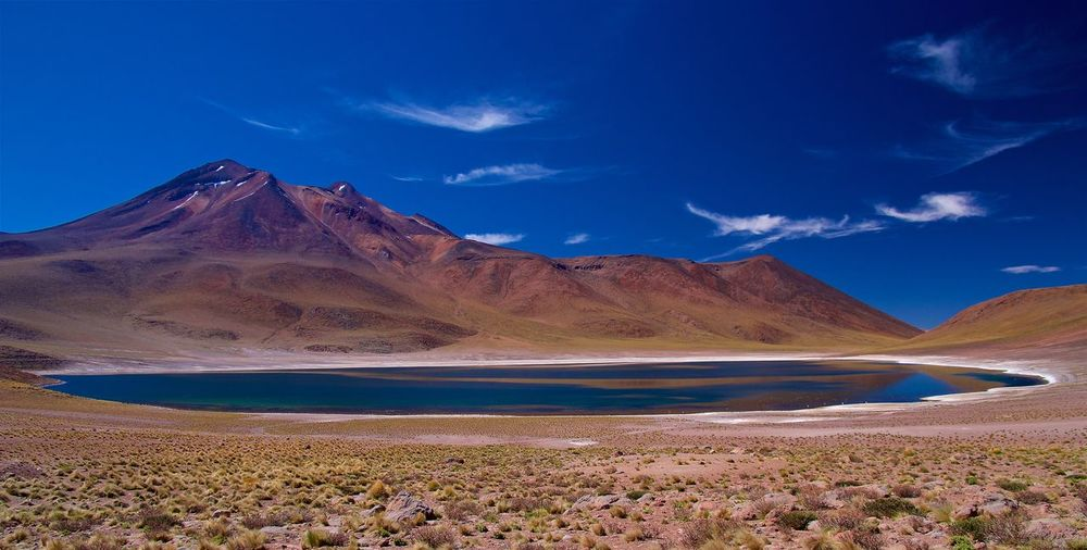 A Place To Dream Andes Chile Laguna Miñiques Landscape_Collection Beauty In Nature Blue Blue Sky Colorful Day Lake Landsape Mountain Range Mountains No People Scenics Sky Water