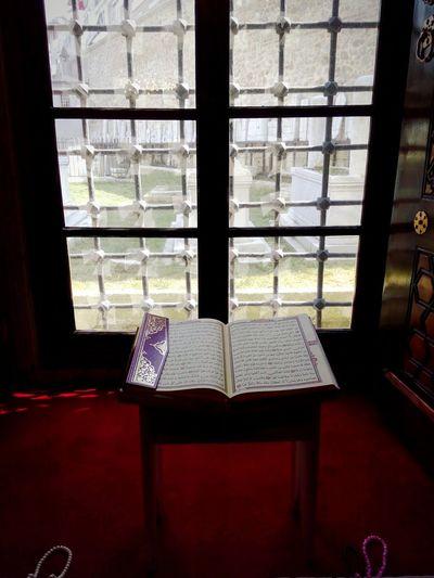 Urban Lifestyle Quranulkareem Reading Presence Grave Mosque In Istanbul Muslim