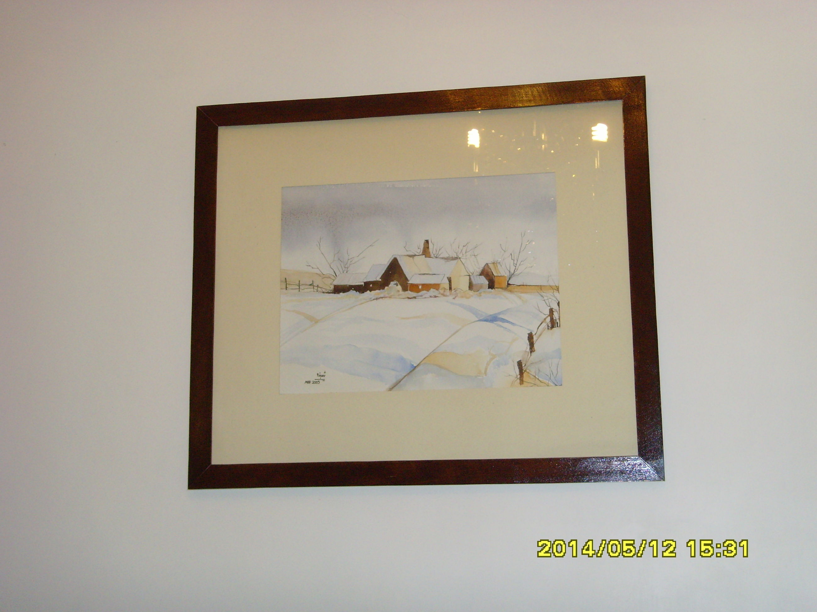 picture frame, frame, no people, indoors, close-up, sky, day, nature