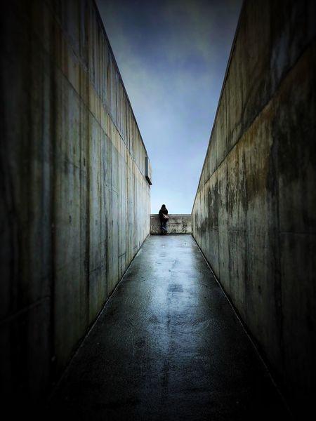 Concrete Wall Porto Portugal 🇵🇹 Porto Eyeemphotography EyeEm Best Edits EyeEmBestPics EyeEm Selects EyeEm Gallery EyeEm Best Shots EyeEm Architecture The Way Forward Built Structure Real People Walking Day One Person People