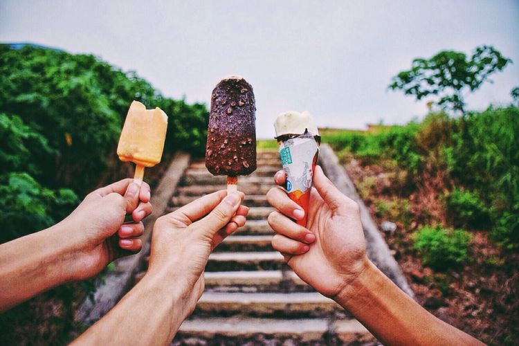Ice Cream We Are Young Beautiful Day Relaxing Summer