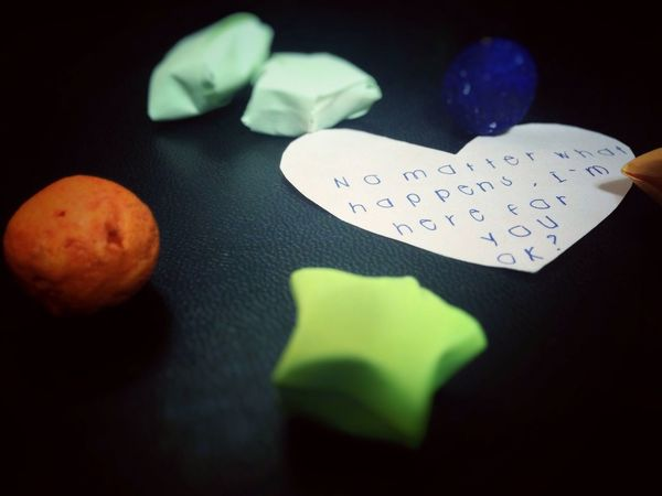 Heart Shape Still Life Indoors  Close-up No People Black Background Variation Paper Valentine's Day  Heart Freshness Day Love Relationship Eyeem Philippines Philippines Little Things Comfort Words Reminiscing Words Of Love  Reassurance Long Goodbye Long Goodbye